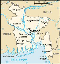 Carte miniature du Bangladesh
