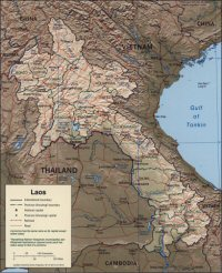 Carte miniature du Laos