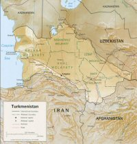 Carte miniature du Turkménistan